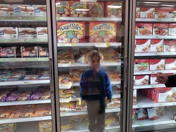 Cuando lo buscamos por toda la tienda.