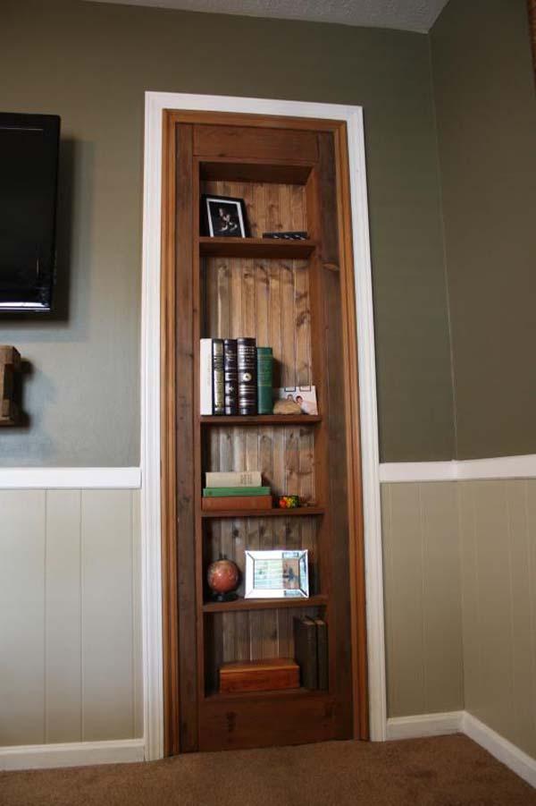 Y listo, una increible puerta secreta con un librero.
